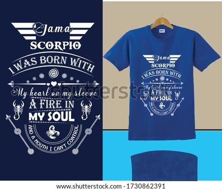 i am a scorpio i was born with
