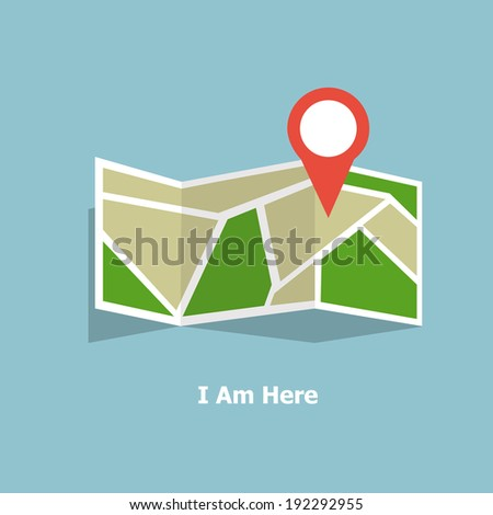 i am here on my gps map