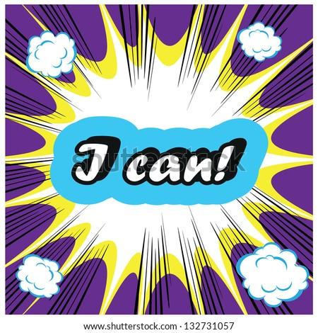 I can! boom background stamp template