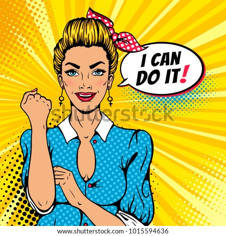 i can do it poster pop art