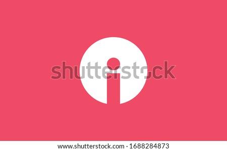 i ii or iii letter initial logo