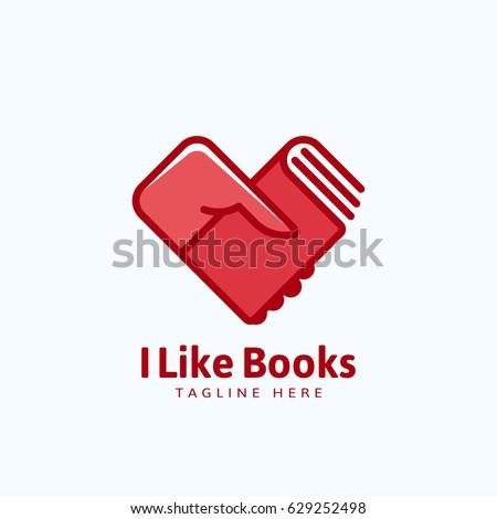 i like books abstract vector