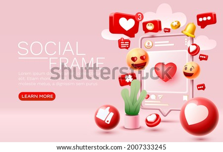 I like this, with lots of icons, chat for people to communicate. Vector illustration