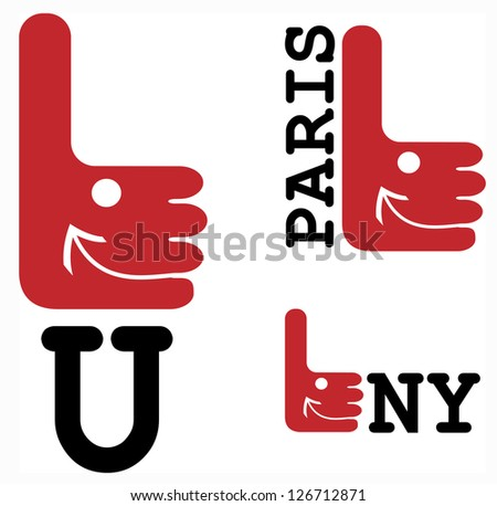 I Like you - symbol, Paris,  New York  smiling thumb up