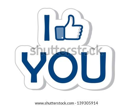 i like you  thumb up icon