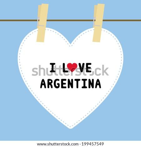 i love argentina letter card