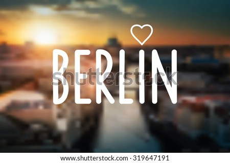 i love berlin text icon on