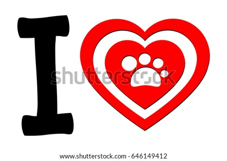 i love cat and dog logo i love