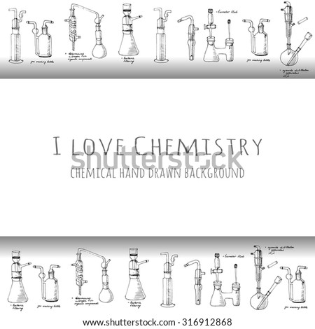 i love chemistry card with of