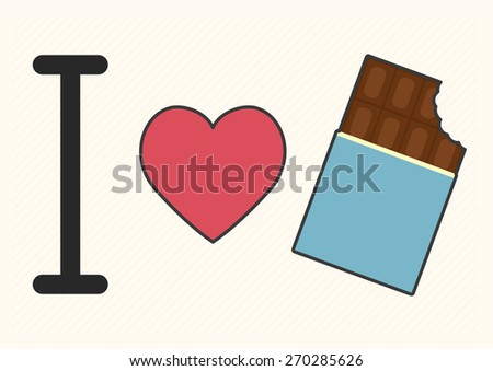 i love chocolate font type with