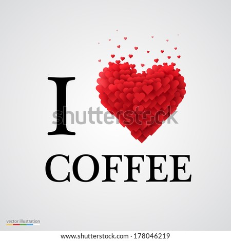 i love coffee  font type with