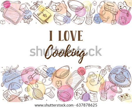 I Love Cooking Clipart