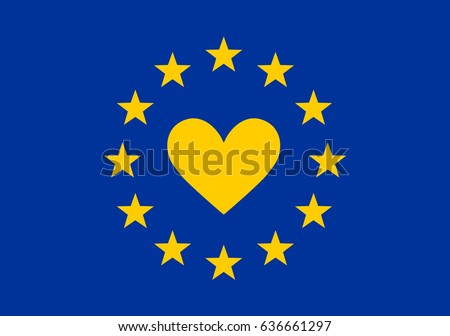i love europe  heart  flag  eu