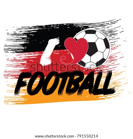 i love german football vector