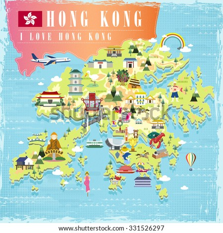 i love hong kong concept travel