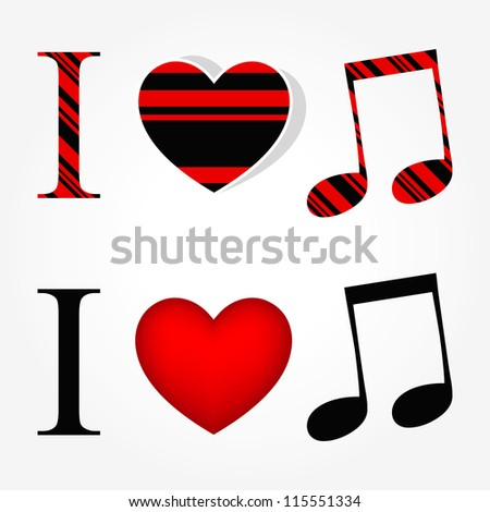 I love music - stock vector
