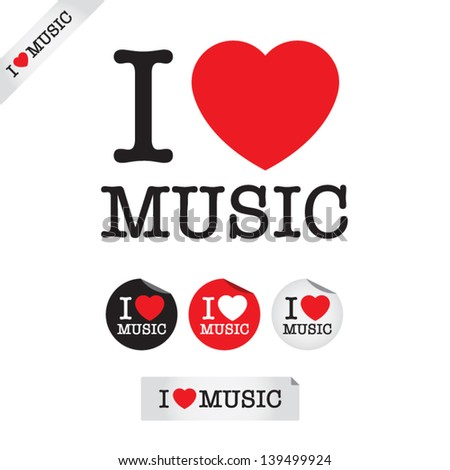 i love music  font type with