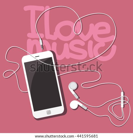i love music white mobile