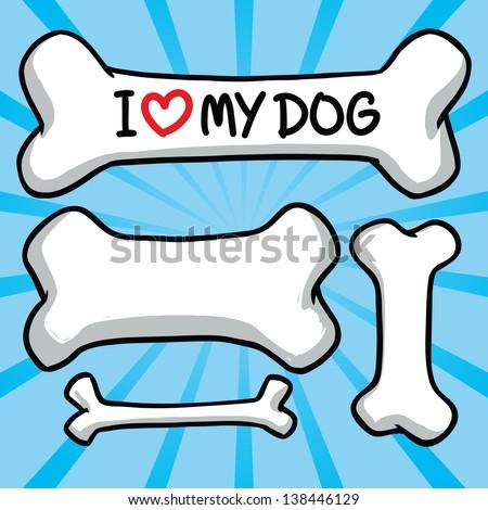 i love my dog sign on the bone