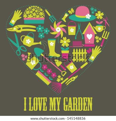i love my garden card design