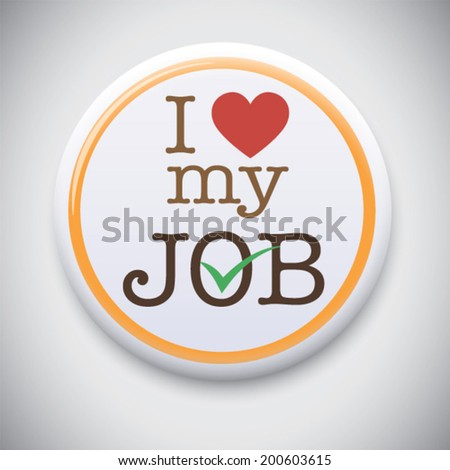 i love my job  font type with