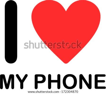i love my phone font type