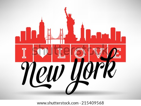 i love new york typography