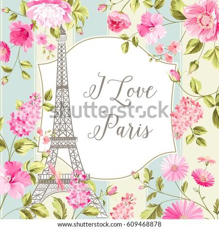 i love paris invitation card
