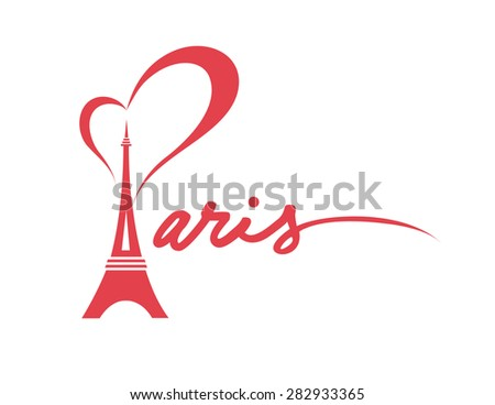 i love paris   vector graphic