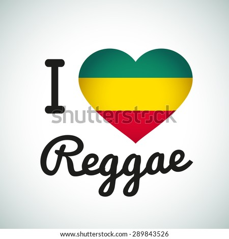 i love reggae heart
