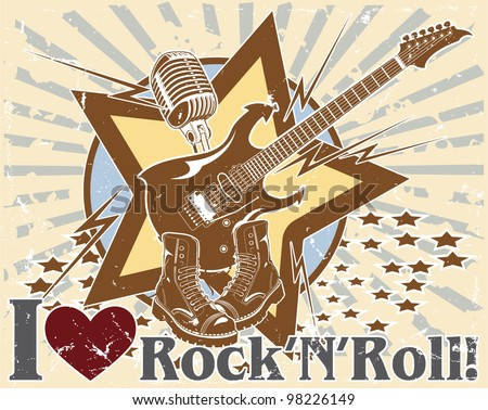 I love rock 'n' roll. poster