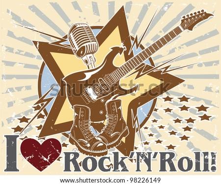 I love rock 'n' roll. poster