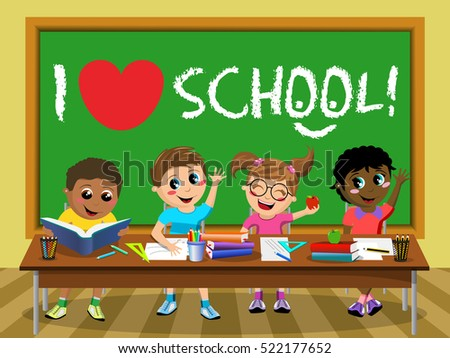 i love school on blackboard and