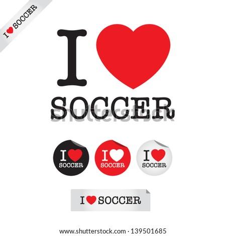 I love soccer sign