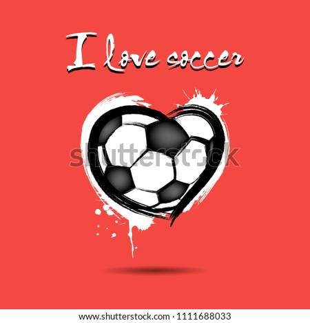 i love soccer soccer ball