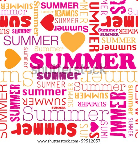 I love summer seamless background pattern in vector