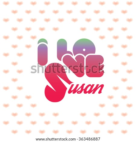 i love susan greeting card with
