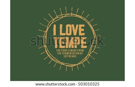 i love tempe  snack food