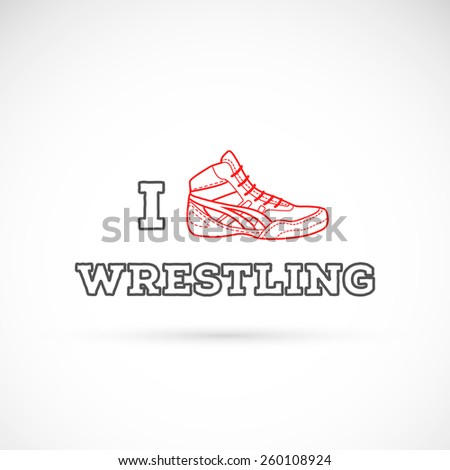 I love wrestling logotype. Fight theme.