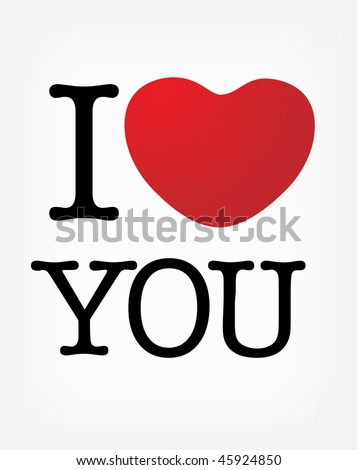 stock vector : I love you