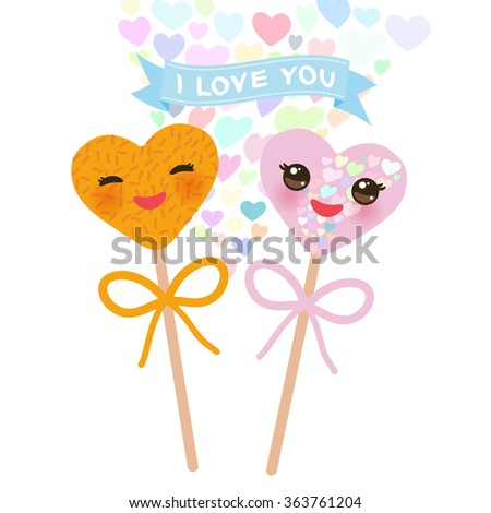 i love you card design with