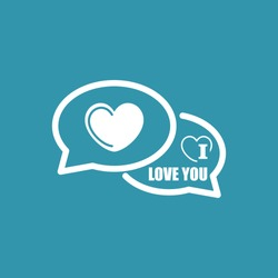 I Love You Comments Icon. Eps-10.