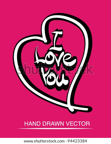 I love You Design with Cool Type