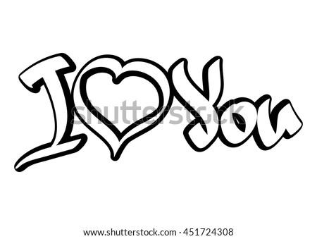 love you forever message in heart vector design illustration