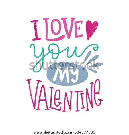 i love you my valentine bright