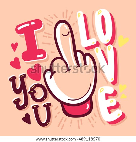 i love you quote vector