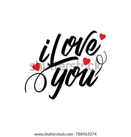I love you vector typography #788963374