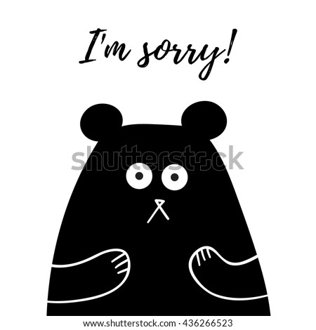i'm sorry lettering  card with