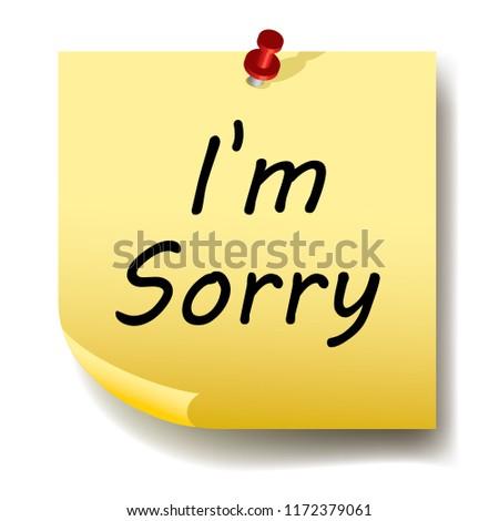 i'm sorry paper sticker