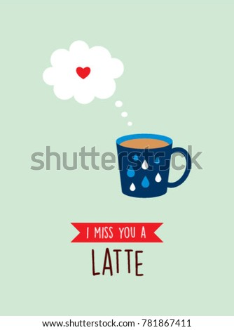 I miss you greeting card with cup graphic ez canvas i miss you greeting card with cup graphic m4hsunfo